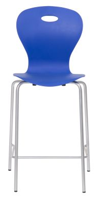 Solar Mid Height Bar Stool In Marine Blue Front View