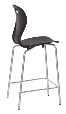 Solar Mid Height High Stool With A Nblack Shell Side View