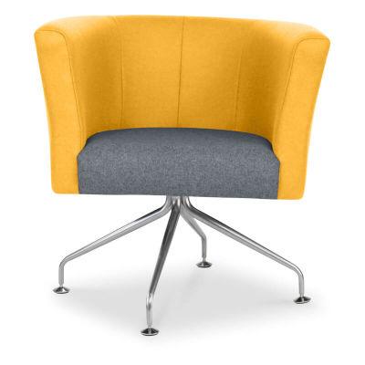 Siena Designer Tub Chair - Orange - Front - Spider Base