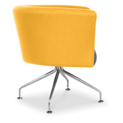 Siena Designer Tub Chair - Side View - Wooden Subframe - Two Tone Upholstery