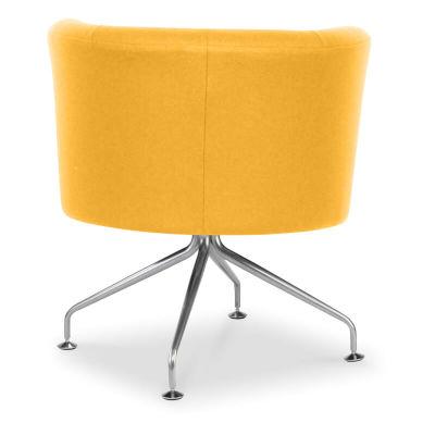 Siena Faux Leather Tub Chair - Orange - Spider Base - 360 Degree Swivel