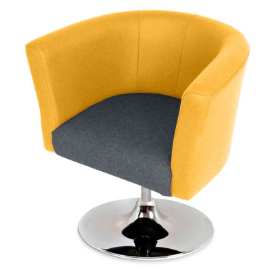 Siena Designer Tub Chair - Top Angle - Stylish Faux Leather Finishes - Uk Delivery
