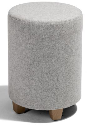 Kujjo Round Stools With Wooden Feet