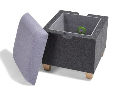 Kujo Square Stool With Lid Off