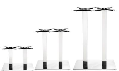 Sykes Twin Chrome Table Bases