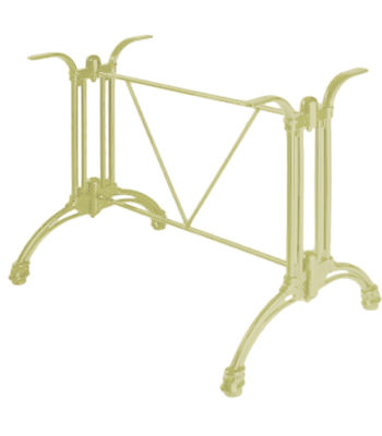 Continental Aluminium Rectangular Table Base Green Beige