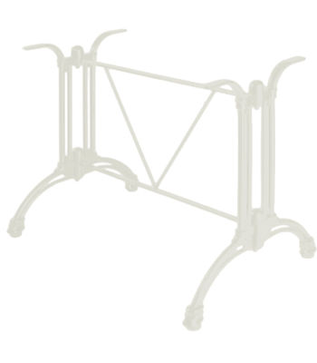 Continental Aluminium Rectangular Table Base Grey White