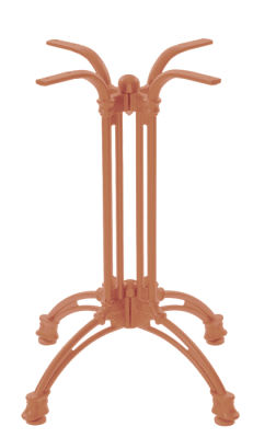 NEXTDAY Continental 4 Leg Table Base Beige Red