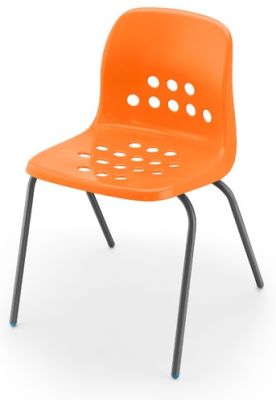 Pepperpot Chair In Orange Angle View