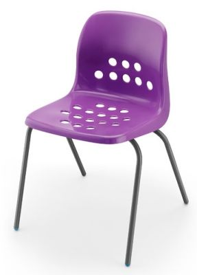 Pepperpot Chair In Purple Angle View