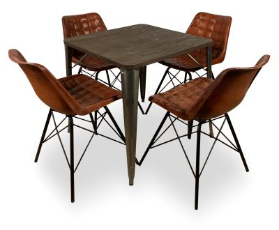 Leather Chair And Bistro Table Bundle