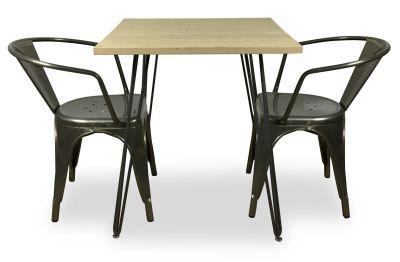 Metal Armchair And Pin Table Bundle