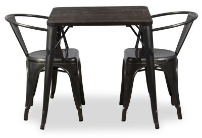 Double Metal Armchair And Bistro Table Bundle