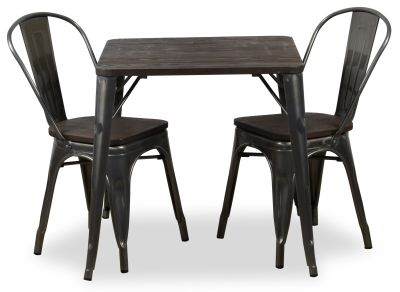 Double Metal Chair And Bistro Table Bundle