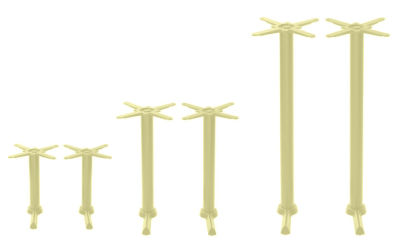Hoaf Coloured Twin Table Bases Green Beige