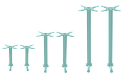 Hoaf Coloured Twin Table Bases Traffic Green