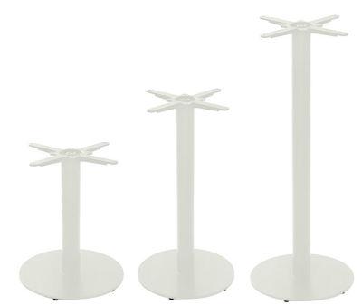 Tristy Medium Coloured Round Table Base Grey White