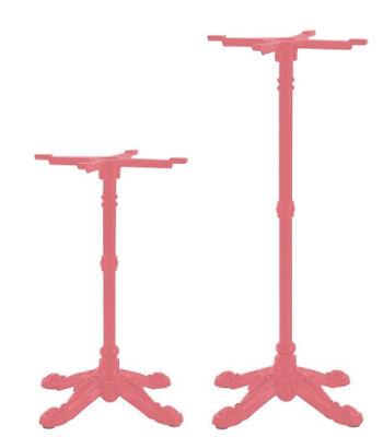 Gilic 4 Leg Coloured Ornamental Table Base Antique Pink
