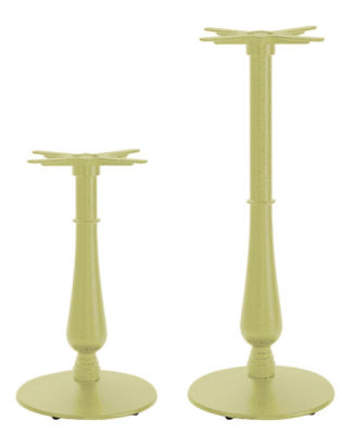 Serent Coloured Ornamental Table Bases Green Beige