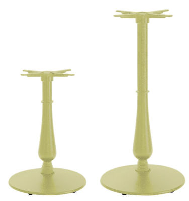 Serent Large Coloured Ornamental Table Bases Green Beige