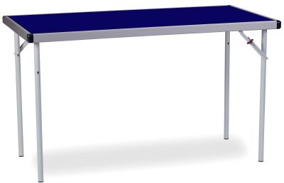 Rapid Fast Fold Folding Table With A Blue Top