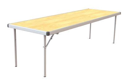 Rapid Fast Fold Table Oak Angled