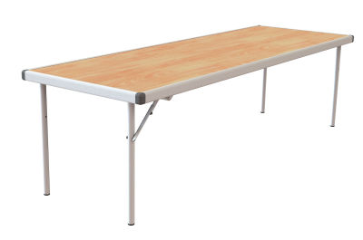 Rapid Fast Fold Table With A Beech Top