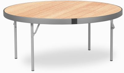 Rapid Fast Fold Round Folding Table Beech Top
