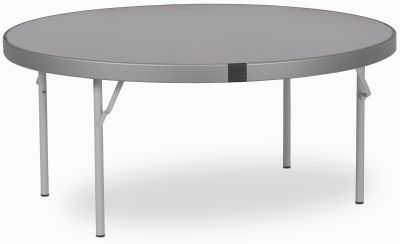 Rapid Fast Fold Round Folding Table With A Grey Top