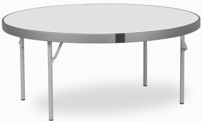Rapid Fast Fold Round Folding Table With A White Top