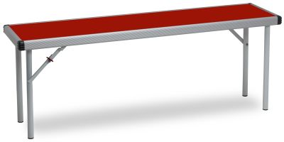 Rapid Fast Fold Folding Bench With A Red Top