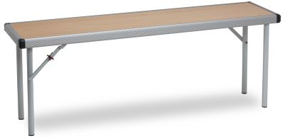 Rapid Fast Fold Stackable Bench With A Beech Top