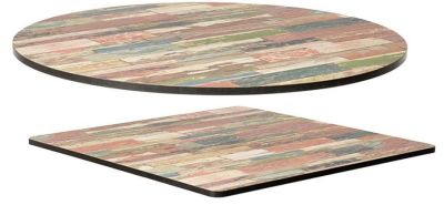 Reclaimed Beach Hut Compact Laminate Table Tops