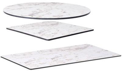 White Carrera Marble Hpl Tops