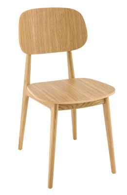 Garda Side Chair Oak Veneer Seat