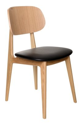 Como Side Chair Oak Seren Faux Leather Seat