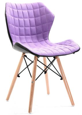 Santan Purple Fabric Chair Angled View
