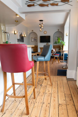 Fortey Leather High Stools Mood View