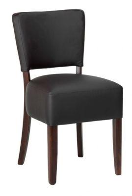 Rosie V2 Leather Dining Chair Dark Brown