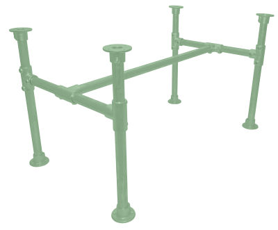 Yemal Scaffold Table Base Green