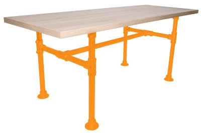 Yemal Scaffold Table Base Melon Yellow View