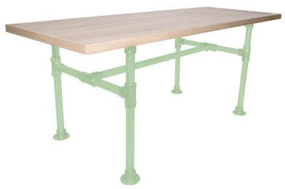 Yemal Scaffold Table Base Pale Green View