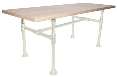 Yemal Scaffold Table Base Pure White View