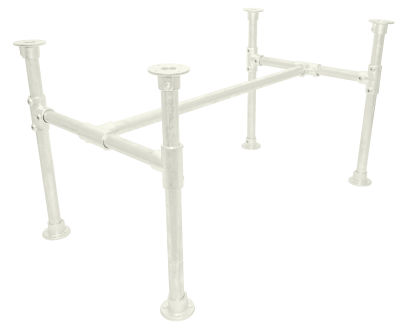 Yemal Scaffold Table Base Pure White