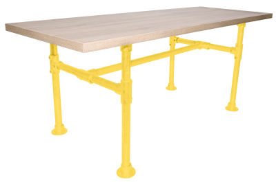 Yemal Scaffold Table Base Zinc Yellow View