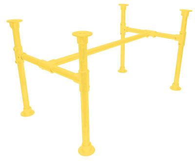 Yemal Scaffold Table Base Zinc Yellow
