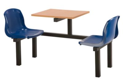 Totnes Fast Food Unit 2 Seater Blue Beech