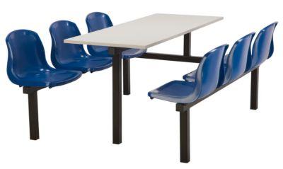Totnes Fast Food Unit Single Sided 6 Seater Blue Grey