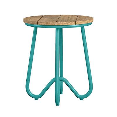 Turquoise Retro Outdoor Bistro Stool
