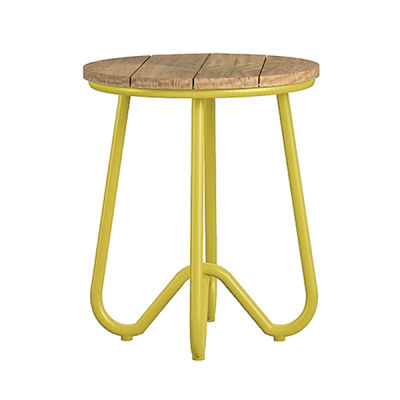 Yellow Retro Outdoor Bistro Stool